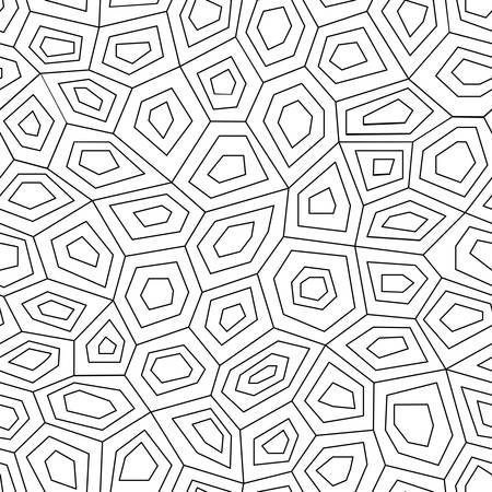 graphic pattern: Geometric low poly graphic repeat pattern made out of hexagon facets. Illustration