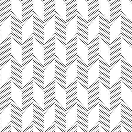 Nahtlose Zickzack-Muster. Abstrakte Schwarzweiss-Hintergrund.
