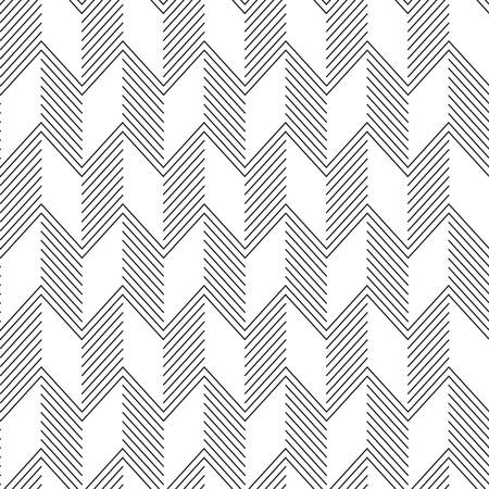curve line: Seamless ZigZag Pattern. Abstract Black and White Background. Illustration