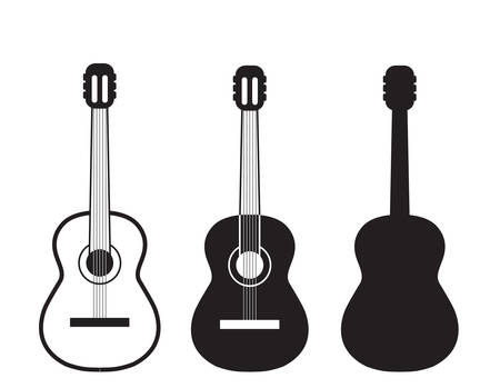 clip art: Set guitars symbol. Illustration