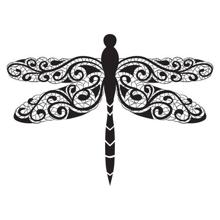 anisoptera: Vector dragonfly icon Illustration