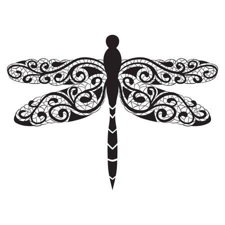 Vector dragonfly icon Иллюстрация