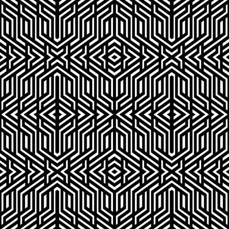 gothic style: Geometric Squares seamless ornament. Abstract background. Vector Illustration