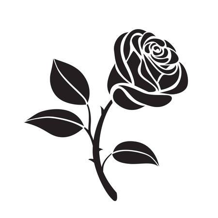 抽象的な花バラ ベクトル アウトラインのアイコン。創造的な高級ファッション ロゴタイプ コンセプト アイコン。バラのロゴ