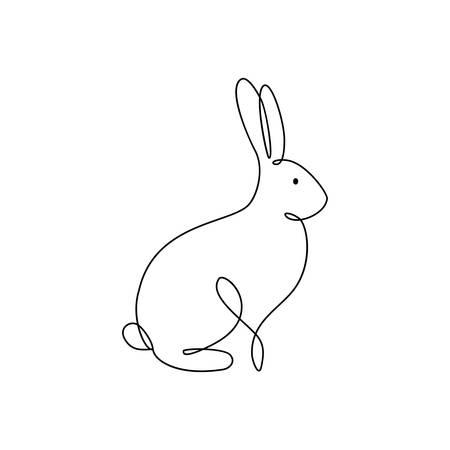 One line rabbit icon.