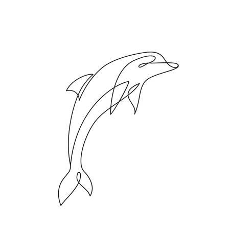 Dolphin line art