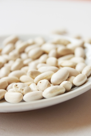 White beans on a plate Stock Photo - 19317264