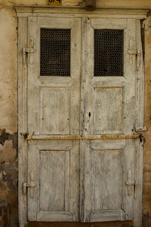 Old grungy wooden door  photo