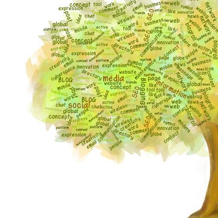 Social network tree  Blog Symbol  Business growing photo