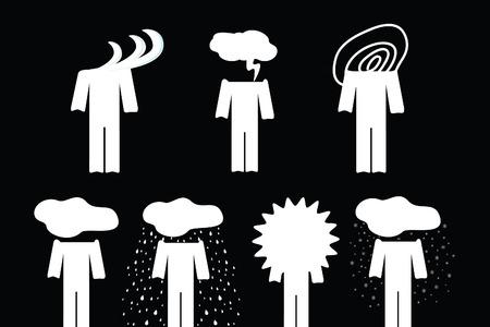 Feeling set icon  Feelings are like weather   Vector