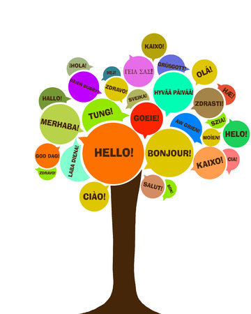 polyglot: Symbol of European day of languages Stock Photo