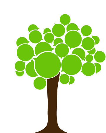 polyglot: Eco tree. Language tree Stock Photo