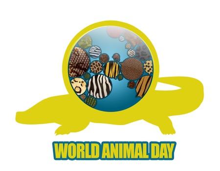 World Animal Day Illustration. Save animals, Save planet. Earth Icon illustration