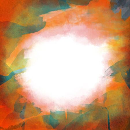 Multicolored artistic frame photo