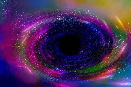 black hole: Black hole in space background Stock Photo