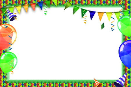 Celebration background with carnival balloons and objects