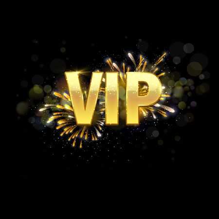 Very important person - VIP glittering text