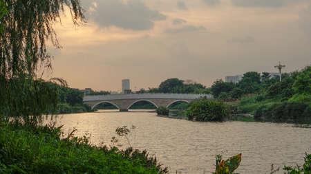 landscape riverside: Sunset River