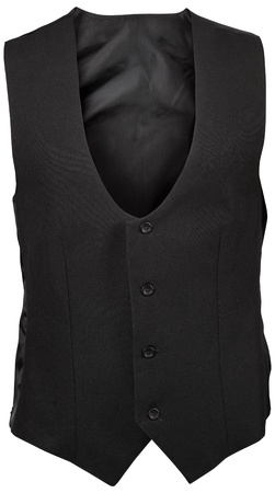 black male vest isolated on white background