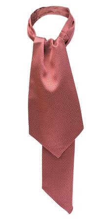 neck tie: red tie with white dots isolated on white background Stock Photo