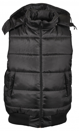 black male winter vest isolated on white Stock Photo