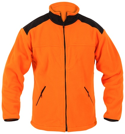 orange male sport jacket isolated on white Stock Photo