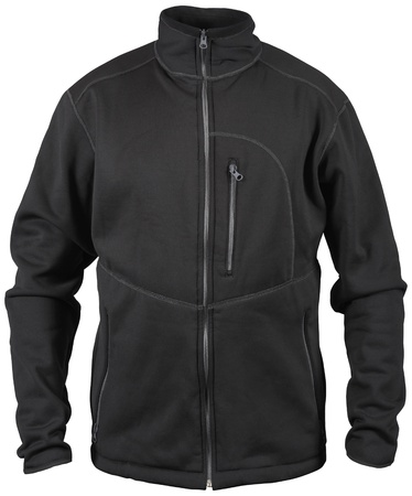 breast pocket: black male sport jacket with breast pocket on zipper isolated on white