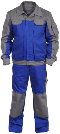 isolated blue-gray male worker s jumpsuit with jacket