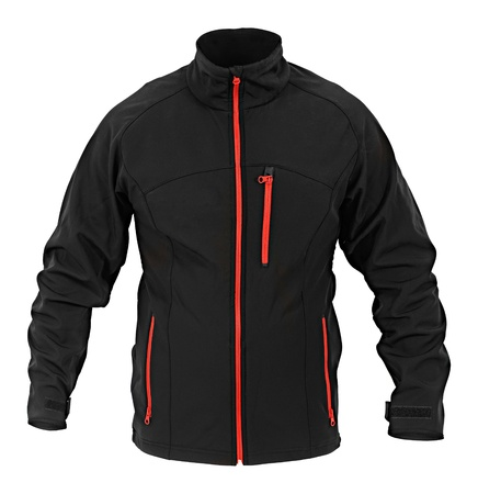 extracted: black male sport jacket isolated on white