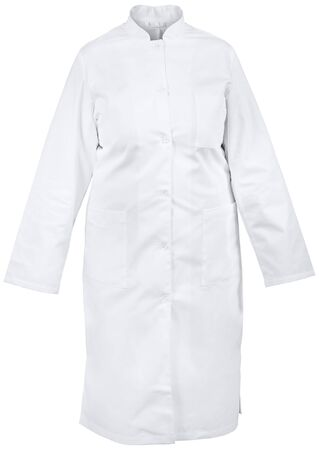 isolated white female medical gown