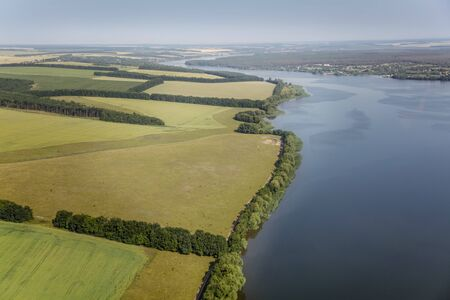 aerial animal: aerial view above the river