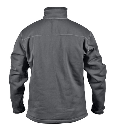breast pocket: Rear view of black male sport jacket with breast pocket on zipper isolated on white background