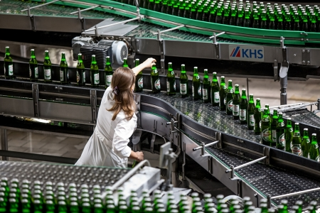 Beer production and bottling on Obolon corporation  Ukraine