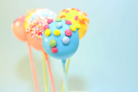 cake pops: cake pops with assortment of sprinkles Stock Photo