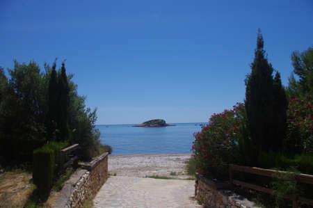 Cap negret beach view. Altea, mediterranean sea. Costa Blanca. Spain