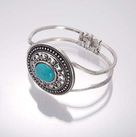 Bracelet on Gray background.