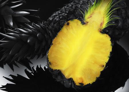Pineapples in different color tones. Zdjęcie Seryjne