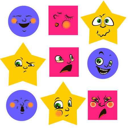Vector smiley. A cute little creature. Expresses emotions.