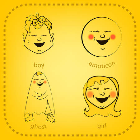animate: Vector smiley. A cute little creature. Expresses emotions.