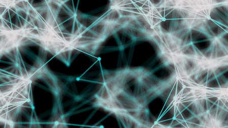 Fractal alien fiber abstract Stock Photo