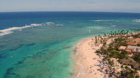 The shore of the sea from a birds eye view Stock Photo