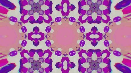 Abstract Colorful Painted Kaleidoscopic Graphic Background. Futuristic Psychedelic Hypnotic Backdrop Pattern With Texture