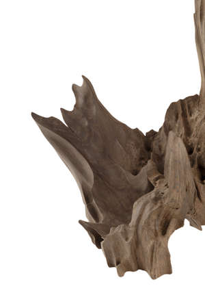 Old piece of wood on a white background, wood texture