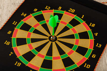 The game of darts, darts on the target Stock Photo