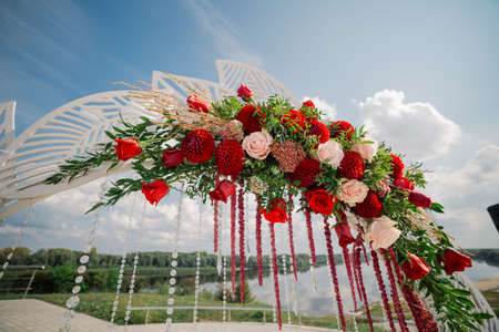Details of the decor wedding wedding registration. 스톡 콘텐츠