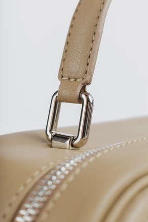 Close-up details of a women bag, new design.