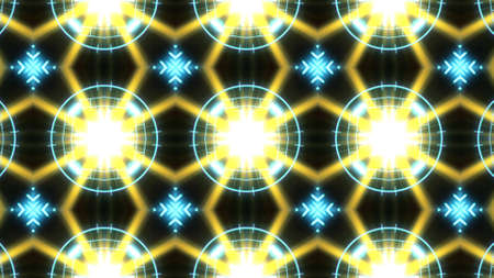 Designer abstract background with glowing individual shapes. Stock Photo