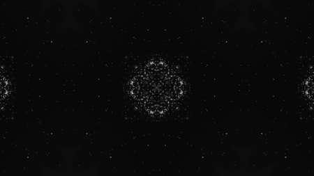 Abstract kaleidoscope background. Beautiful multicolor kaleidoscope texture. Unique and inimitable design. Geometrical symmetrical ornament Фото со стока