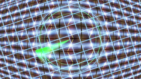 Futuristic HUD locator on an abstract background with highlights. Stock Photo