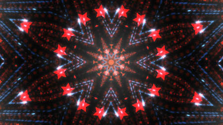 Abstract kaleidoscope background with bright details and elements 免版税图像